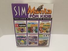 Sim Mania for Kids Big Box PC GAMES Sim Town,Tunes,Ant,Safari,Widget No Park