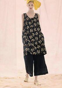 BNWT  Gudrun Sjoden Kaprifol Floral Organic Cotton Dress With Pockets Size L