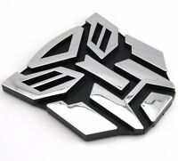 TRANSFORMERS CAR BADGE AUTOBOT 3D CHROME STICKER EMBLEM DECAL LOGO UK SELLER