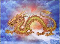 Golden Chinese Dragon 3D Lenticular Poster