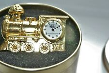 Rare Rocky Mountaineer Desktop miniature steam engine with clock