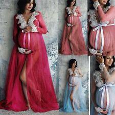 Women Lace Maternity Dress Pregnancy Lace Long Maxi Dress Photography Clothes