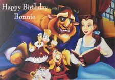 Homemade 'personalised' birthday card - Beauty and the Beast