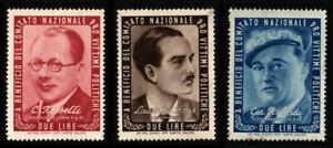 3 Francobolli Comitato Nazionale Pro Vittime Politiche (Due Lire)