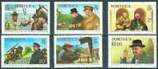 Timbres Personnages Churchill Dominique 396/401 ** (43775)