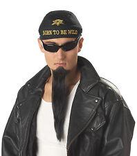 BLACK IMPERIAL GOATEE BEARD BIKER GANG COSTUME ACCESSORY CC70494BK