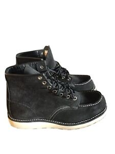"""Red Wing Shoes Black Moc Toe Suede 6"""" Boot 8874. Size 6.5D"""