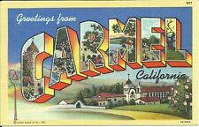 Greetings from Carmel California Large Letter Postcard