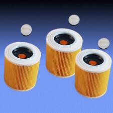 3 Patronenfilter Rundfilter Lamellenfilter Filter für Staubsauger Dewalt D27902M