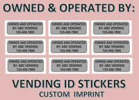 9 Contact Us OWNED BY Stickers Labels vending vendstar CUSTOM