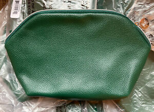 10 * Revive Signature Cosmetic Bag Green Faux Leather 0921B GWP New