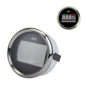 Motorcycle Waterproof 52mm Digital LCD GPS Speedometer Odometer Gauge Mileage