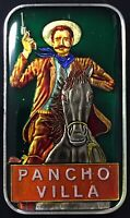 PANCHO VILLA ENAMELED 999 SILVER ART BAR 1 Troy Oz MEXICAN MEXICO 🇲🇽 ENAMEL