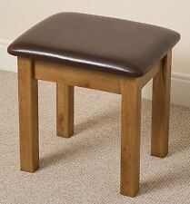 French Rustic Solid Oak Wood Dressing Table Stool Wooden Bedroom Furniture