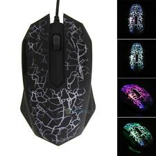 2400DPI USB Mouse 3 Buttons Optical Gaming Game Mouse 7 Colors LED for PC Laptop