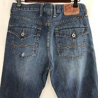Lucky Brand Womens Jeans Size 30x31 Medium Straight Loose Flap Pockets Denim