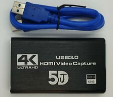 5DJ USB 3.0 4K 60HZ 1080P 60Fps HD Video Loop Capture Card HDMI Plug and Play