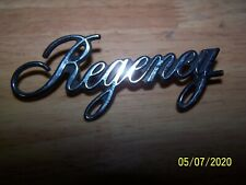 "1972 - '74 OLDSMOBILE ""REGENCY"" SCRIPT NAME PLATE"