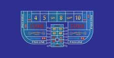Craps table layout single dealer 6 to 8 foot blue