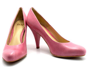 Noe Womens High Heel Leather Pumps Court Shoes Light Magenta Multiple Sizes