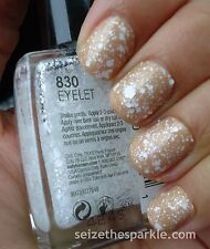NEW! Sally Hansen Luxe Lace Nail Polish Lacquer in EYELET ~ White Satin Glitter