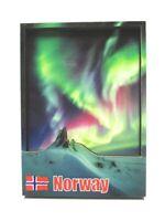 Norwegen Nordlichter 3D Holz Souvenir Magnet Skandinavien  Norway