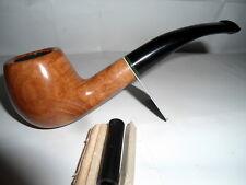 PIPA PIPE pfeife SAVINELLI GREZZA LUCIDA MODELLO 626 CURVA FILTRO DA 9 mm E 6 mm