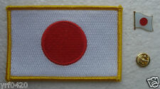 JAPAN National Flag Pin and Patch Embroidery