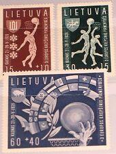 Lithuania Lituania 1939 429-31 b52-54 3rd European baloncesto CS em Kaunas mnh