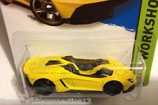 Hot Wheels HW Workshop Lamborghini Aventador J  Yellow Diecast Model Car 1:64