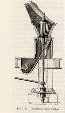 INDUSTRIE MACHINE RAPER LE TABAC IMAGE 1875 INDUSTRY TOBACCO MACHINE OLD PRINT