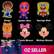"Super Shape Helium Balloons Mickey Disney Spider man Sponge Bob Diego Party  18"""
