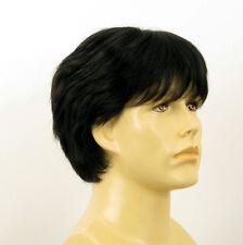 Perruque homme 100% cheveux naturel noir ref ERIC 1b