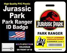 Jurassic Park (PARK RANGER) ID Badge / Card HOLOGRAPHIC ID BADGE - PVC Plastic