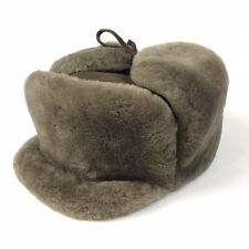 Trapper Hat, Fuzzy warm hunters cap, hunting faux fur aviator Quilted Size 57