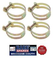 """UTILUX HOSE CLAMPS (4) GOLD IN COLOUR 1.88"""" SUIT FORD HOLDEN RARE SPARES"""