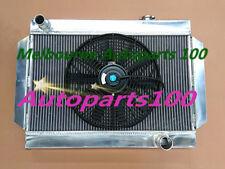 Aluminum radiator for Kingswood HQ HJ HX HZ /Torana LH LX V8 Chevy engine + fan