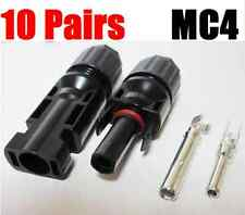 MC4 Connectors Solar Panel Connection Cable Wire Male Female Sets- 10 Pairs