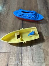 Vintage Plastic Toy Boats