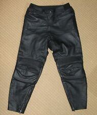 FRANK THOMAS Ladies Leather Motorcycle Trousers UK 18