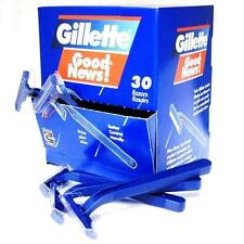 GILLETTE GOOD NEWS 2 BLADES DISPOSABLE RAZOR 30PCS LOT Classic