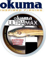 (0,02€/1m) Okuma Ultramax Cat Fish 0,50mm 19,6kg 245m Brown - Wallerschnur, Mono