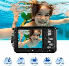 Underwater Camera Full HD Dual Screen Digital Cam Waterproof Video Recorder