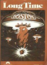 "BOSTON ""LONG TIME"" PIANO/VOCAL/GUITAR SHEET MUSIC VINTAGE 1977 RARE OUT OF PRINT"