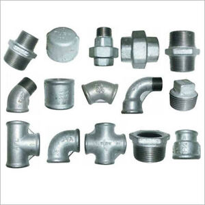 """GALVANISED MALLEABLE IRON PIPE FITTINGS CONNECTORS JOINTS 1/8"""" TO 4"""" INCH BSP"""