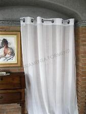 Tenda arredamento casa bianca, 1 telo con anelli, larga cm 140, lunghezza cm 300