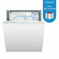 Indesit DIF16B1 Fast Eco Cycle Integrated Dishwasher - White