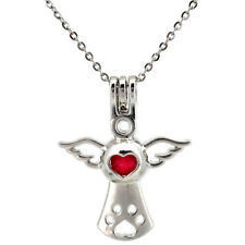 """K659 34mm Angel Pearl Cage Necklace 18"""" Jewelry Findings Charms"""