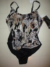 Magicsuit Miraclesuit Skin Tight Lisa 1 Pc Underwire Swimsuit Sz 8 NWT