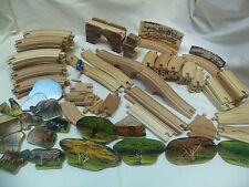 Large Lot of 90 Pieces Thomas & Friends Wooden Track & More!